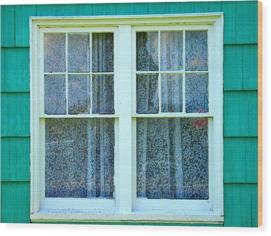 Cottage Windows Wood Print by Mg Blackstock