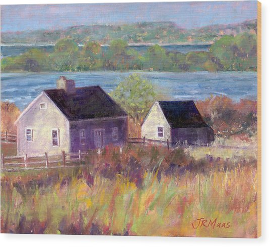 Cottages By The Bay Wood Print
