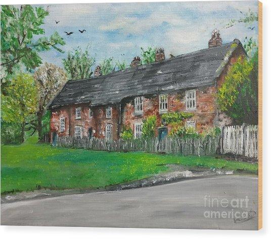Cottages Wood Print