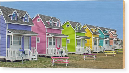 ''cottages'' Wood Print