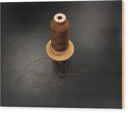 Cottons Threads Wood Print by Adam Sworszt
