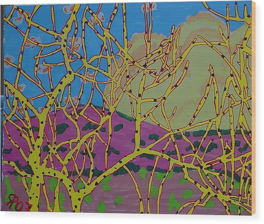 Cottonwood Number 4 Wood Print by Ray  Petersen