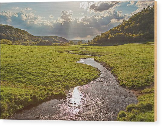 Coulee View Wood Print