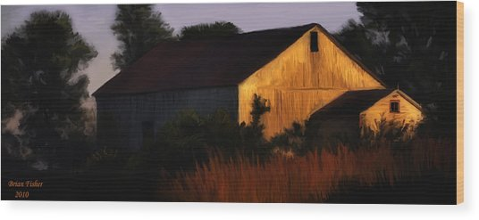 Country Barn Wood Print by Brian Fisher