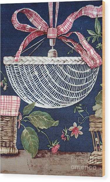 Country Basket Wood Print
