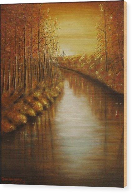 Country Creek Wood Print