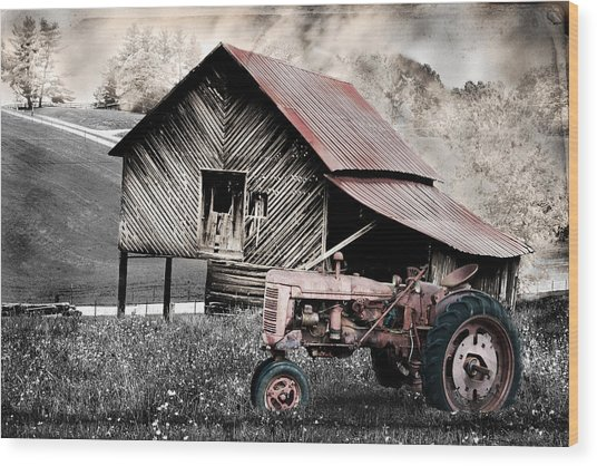 Country Wood Print