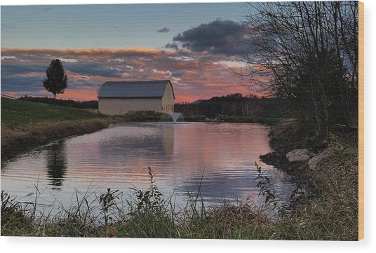 Country Living Sunset Wood Print