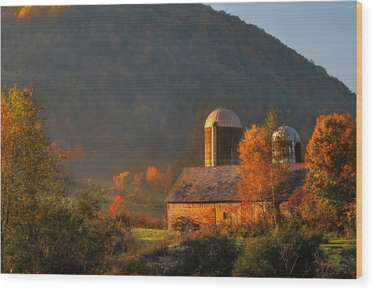 Country Mornings - West Pawlet Vermont Wood Print