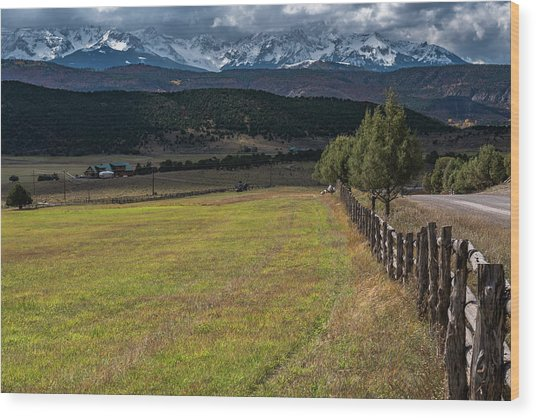 Wood Print featuring the photograph Colorado Country by Chuck Jason