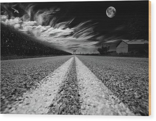 Country Road 51 Wood Print
