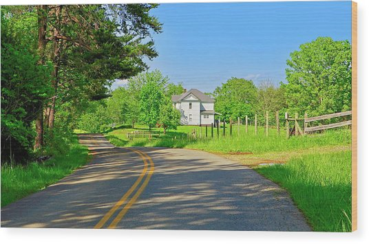 Country Roads Of America, Smith Mountain Lake, Va. Wood Print