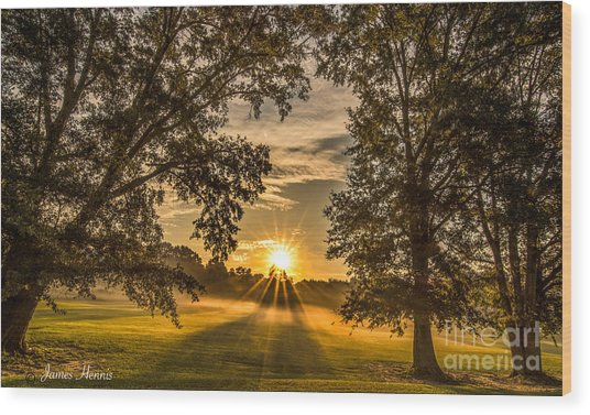 Country Time Rise Wood Print