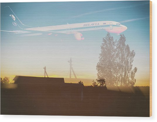 Countryside Boeing Wood Print