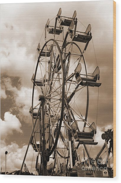 County Fair Wood Print by Kathy Jennings