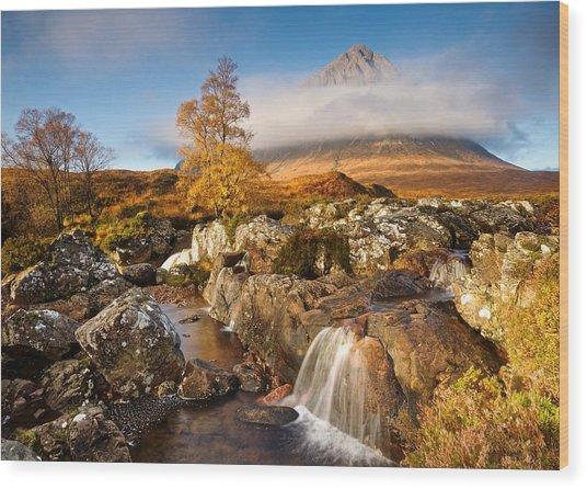 Coupall Falls Glencoe Wood Print