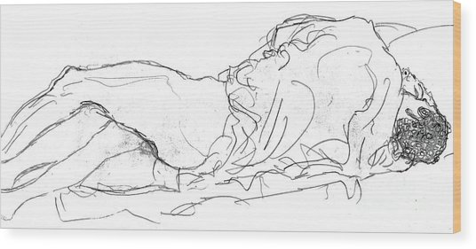 Couple In Bed Wood Print