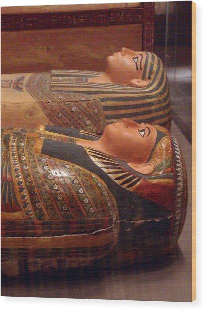 Couple Of Sarcophagi Wood Print