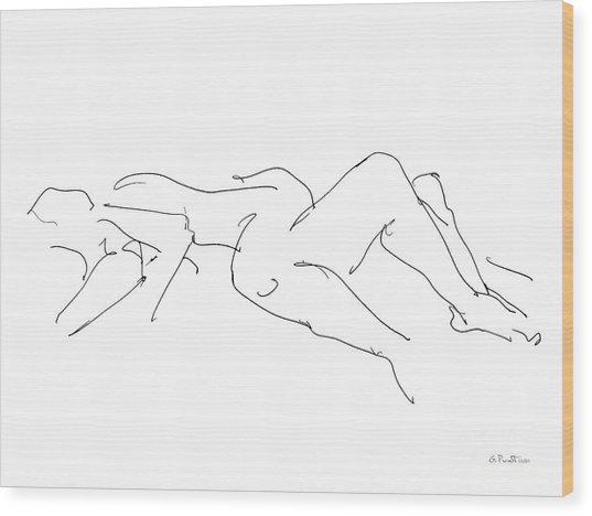 Couples Erotic Art 4 Wood Print