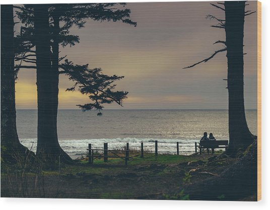 Couples Overlook Wood Print