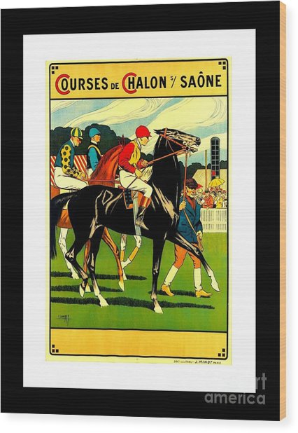 Courses De Chalon French Horse Racing 1911 II Leon Gambey Wood Print
