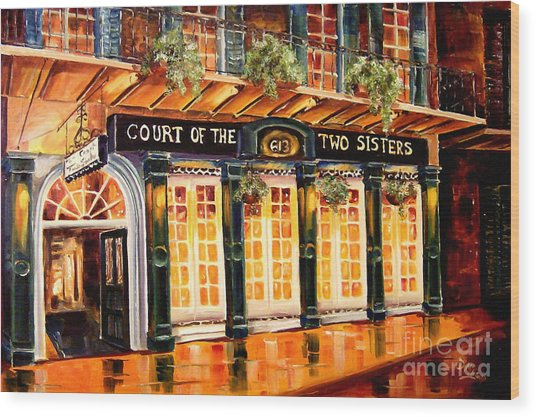 Court Of The Two Sisters Wood Print