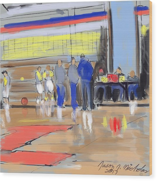 Court Side Conference Wood Print