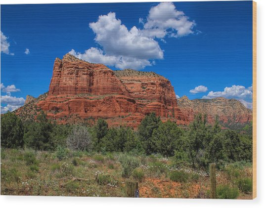 Courthouse Butte Wood Print