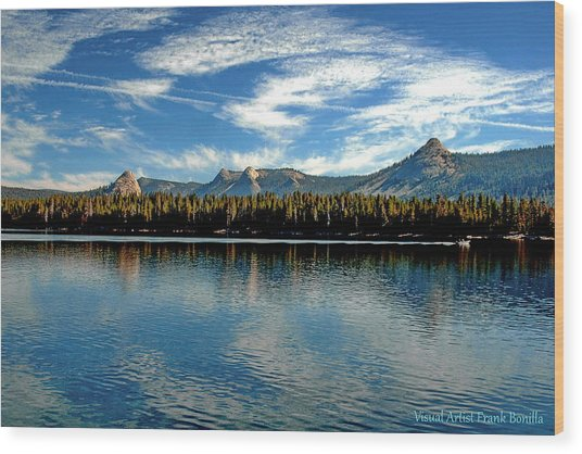 Wood Print featuring the digital art Courtright Reservoir by Visual Artist Frank Bonilla