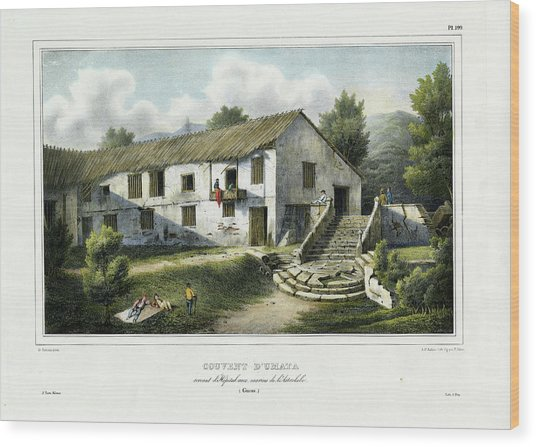 Couvent D Umata Convent In Umatic Wood Print