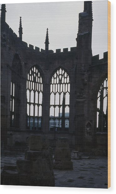 Coventry Cathedral Remains England Wood Print by Richard Singleton