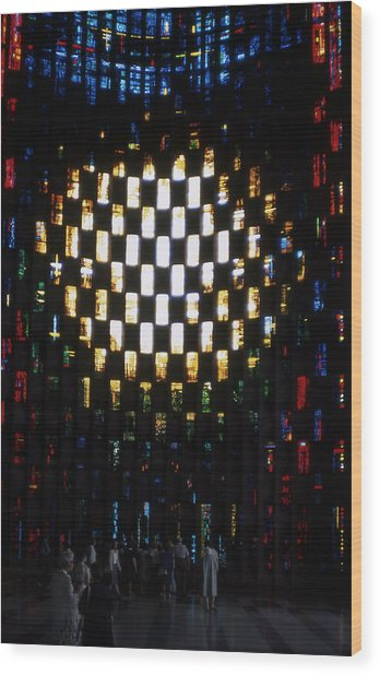 Coventry Cathedral Stained Glass Window England Wood Print by Richard Singleton