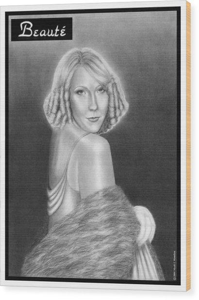 Cover Girl Wood Print by Nicole I Hamilton