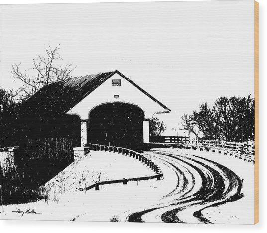 Covered Bridge Wood Print