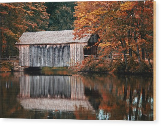 Covered Bridge Osv Wood Print