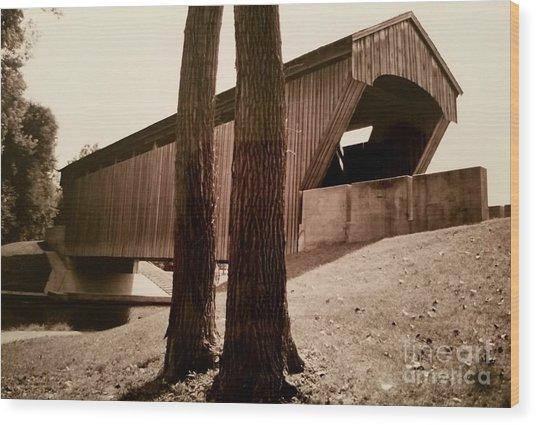 Covered Bridge Southern Indiana Wood Print