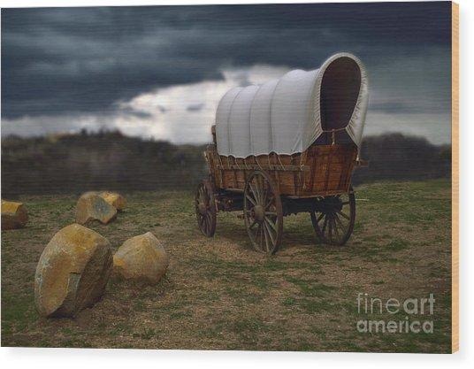 Covered Wagon 2 Wood Print