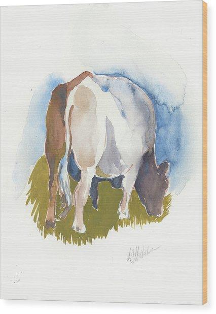 Cow I Wood Print