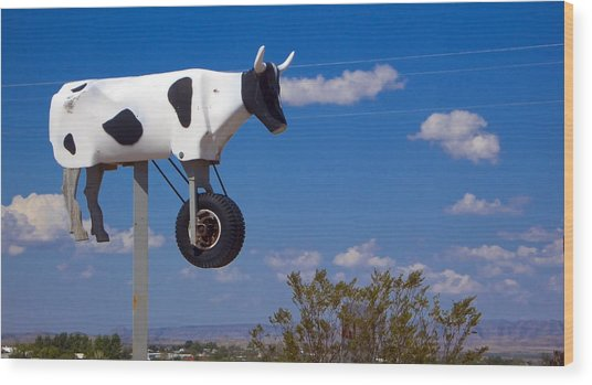 Wood Print featuring the photograph Cow Power by Skip Hunt