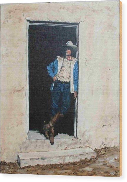 Cowboy Cade Wood Print