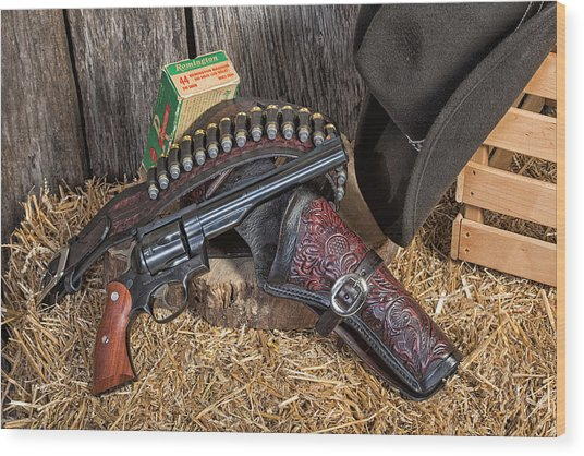 Cowboy Gunbelt Wood Print