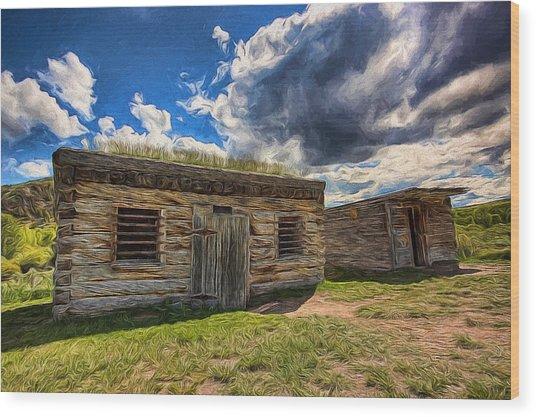 Cowboy Jail Wood Print