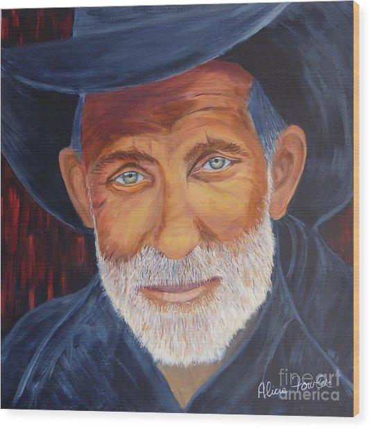 Cowboy Tex Wood Print