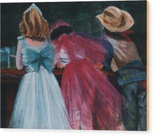 Cowboys And Queens Wood Print by Victoria Heryet