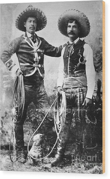 Cowboys, C1900 Wood Print