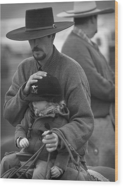 Cowboys Signature 5 Wood Print