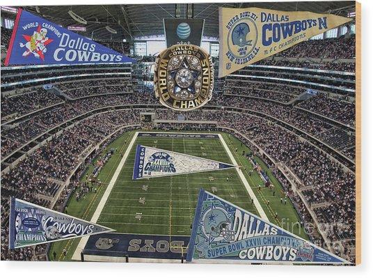 Cowboys Super Bowls Wood Print