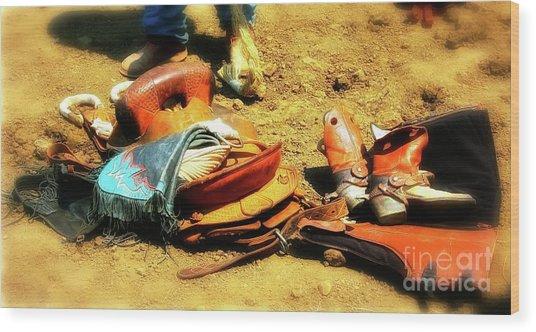 Cowboys Traps Wood Print by Gus McCrea