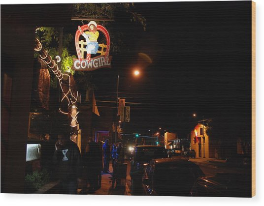 Cowgirl Bar In Santa Fe Wood Print