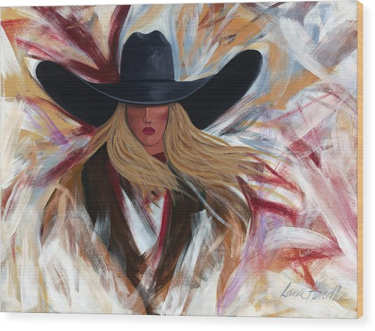 Cowgirl Colors Wood Print